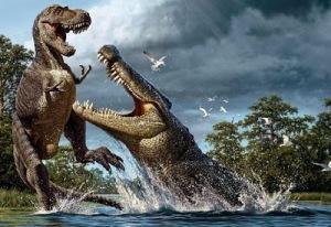 deinosuchus and albertosaurus 8 Binatang Terbesar Sepanjang Sejarah