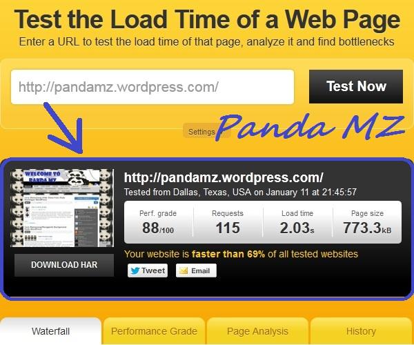 Hasil Kecepatan Blog