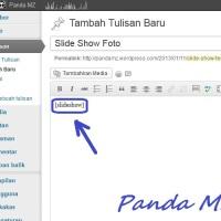 Cara Memasang Slide Show Foto Pada Postingan Wordpress